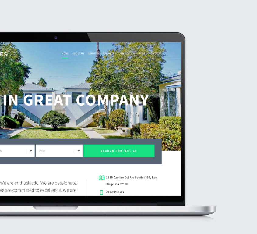 Web Design For Property Manager