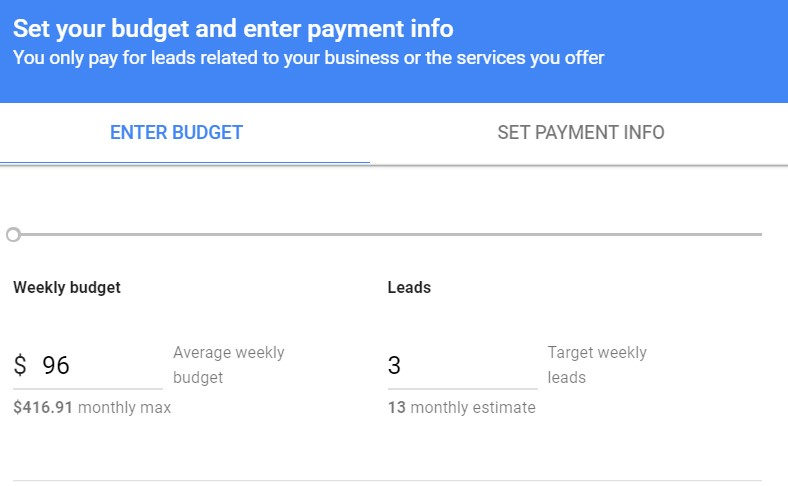 Google local services ads leads cost
